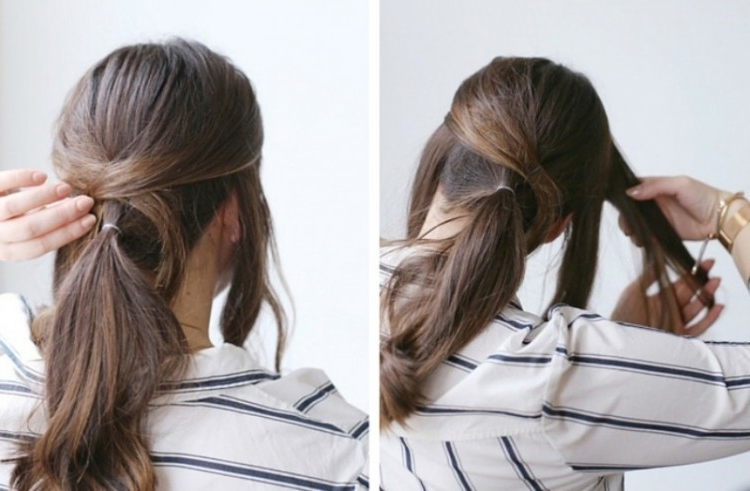 Easy Diy Criss Cross Ponytail For Second Day Hair – Styleoholic Inside Criss Cross Side Ponytails (View 2 of 25)