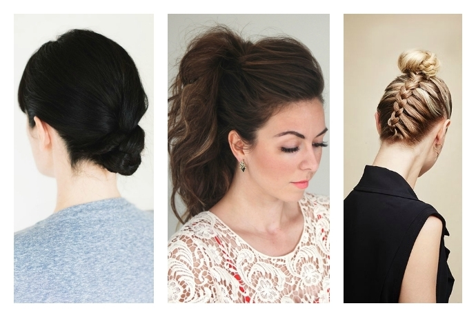 Easy Hair Tutorials To Help You Update Your Everyday Ponytail! Regarding Braid And Bun Ponytail Hairstyles (View 3 of 25)