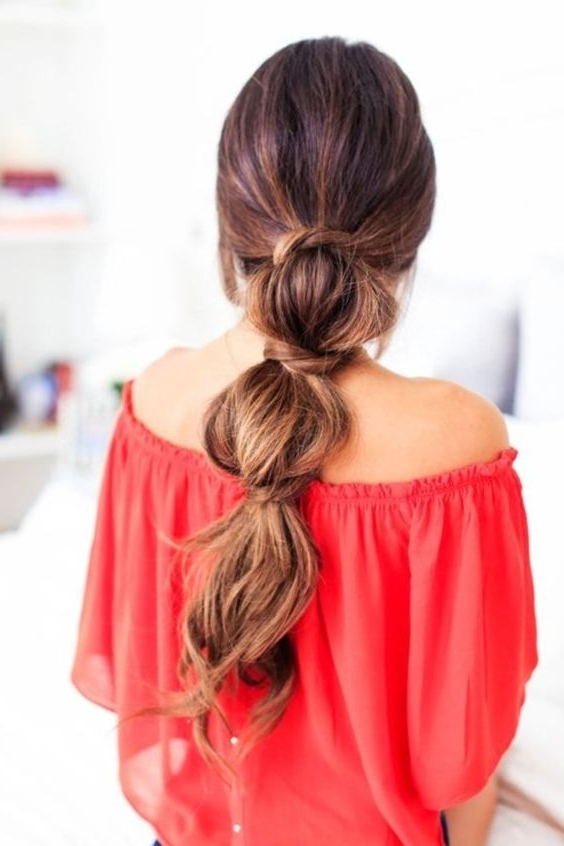 Easy Hairstyles For College Girls – Simple Hair Style Ideas For Inside Triple Braid Ponytail Hairstyles (View 8 of 25)