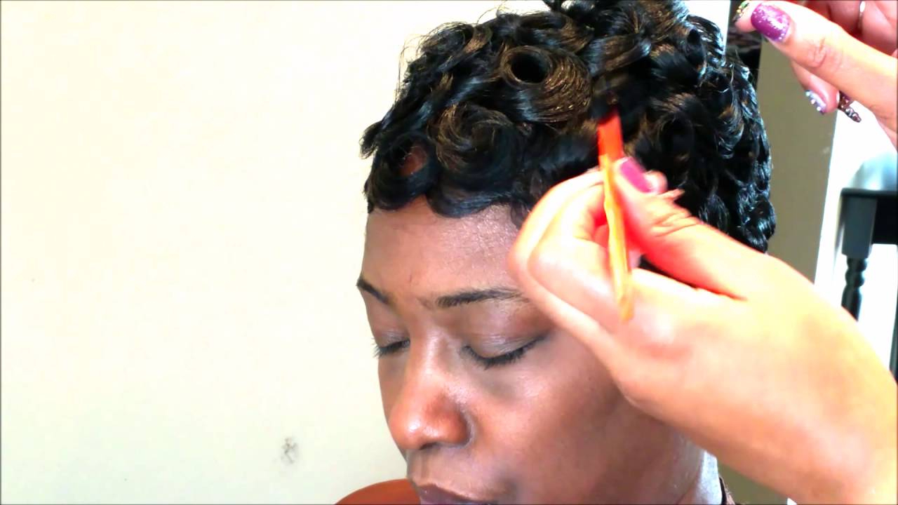 Easy Pincurl Soft Fingerwave Short Hair Full Tutorial – Youtube Inside Soft Curly Tapered Pixie Hairstyles (View 22 of 25)