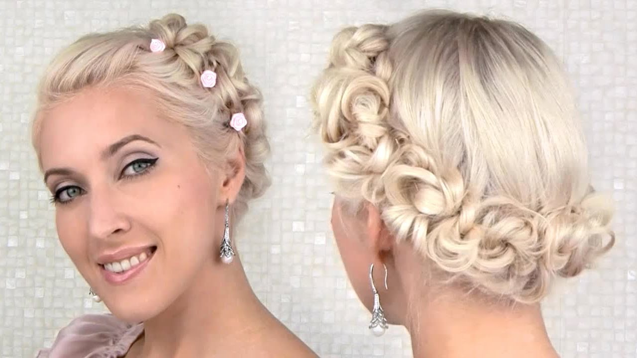Easy Prom/wedding Updo Hairstyle For Medium Long Hair Tutorial – Youtube In Cute Hairstyles For Short Hair For A Wedding (View 16 of 25)