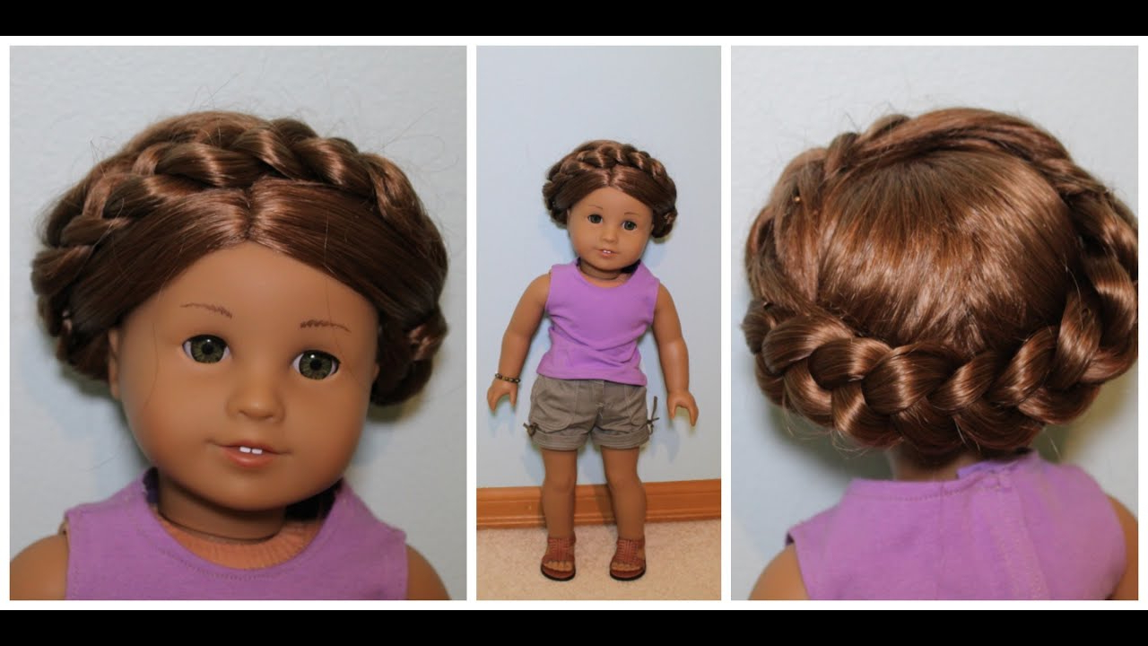 Easy Summer Hairstyle For Ag Dolls! – Youtube With Hairstyles For American Girl Dolls With Short Hair (View 7 of 25)