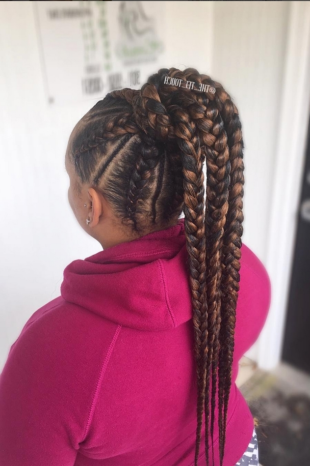 Elaborate Braid Hairstyles To Try – Essence Regarding Fiercely Braided Ponytail Hairstyles (View 18 of 25)