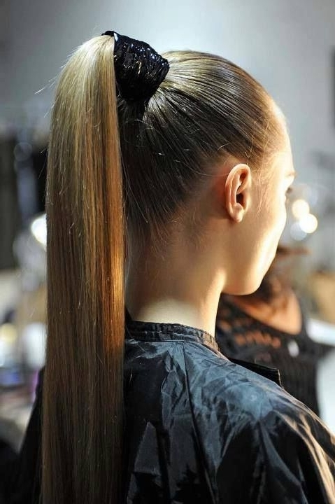 Elegant And Simple Hairdo For The Event – High Ponytail Pictures Regarding Elegant Ponytail Hairstyles For Events (View 21 of 25)