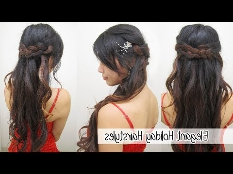 Elegant Braided Holiday Hairstyles L Cute & Easy Hairstyles – Youtube For Elegant Ponytail Hairstyles For Events (View 22 of 25)