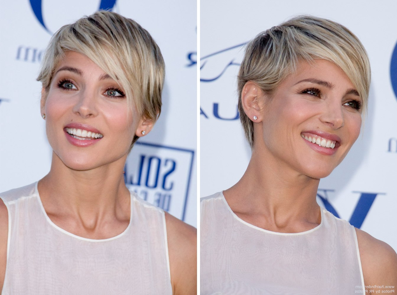 Elsa Pataky | Short Blonde Pixie Haircut With A Tapered Neck And Pertaining To Short Hairstyles Cut Around The Ears (View 20 of 25)