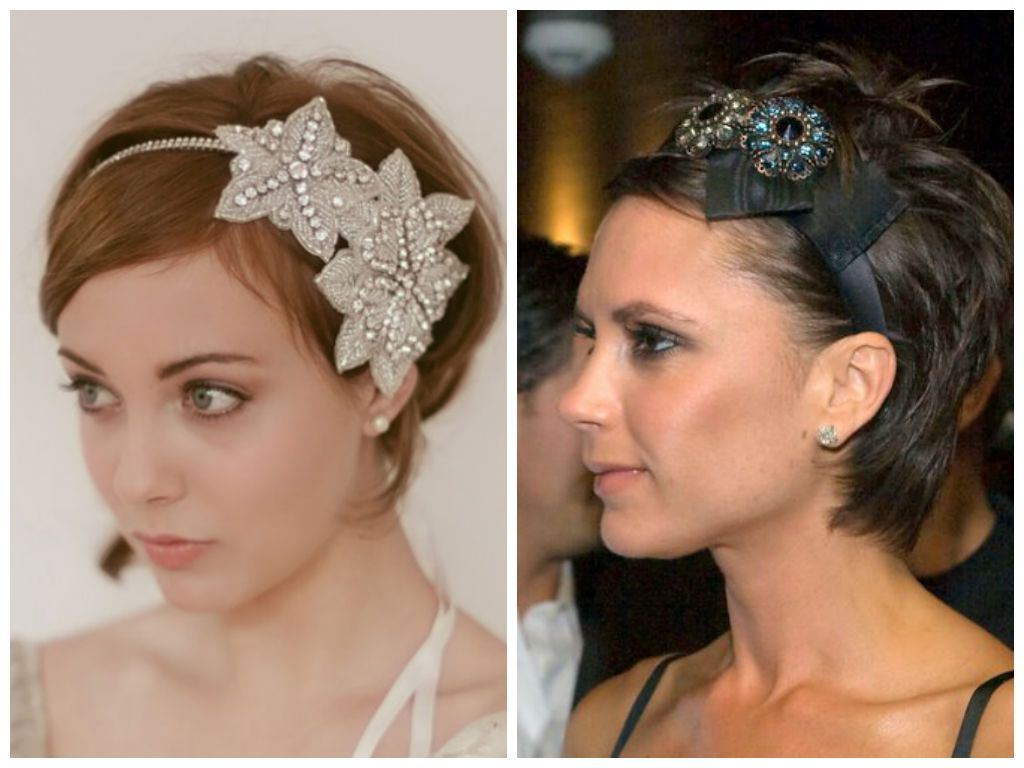 Embellished Headband For Short Hair   Hair   Pinterest   Short Hair Intended For Short Haircuts With Headbands (View 6 of 25)