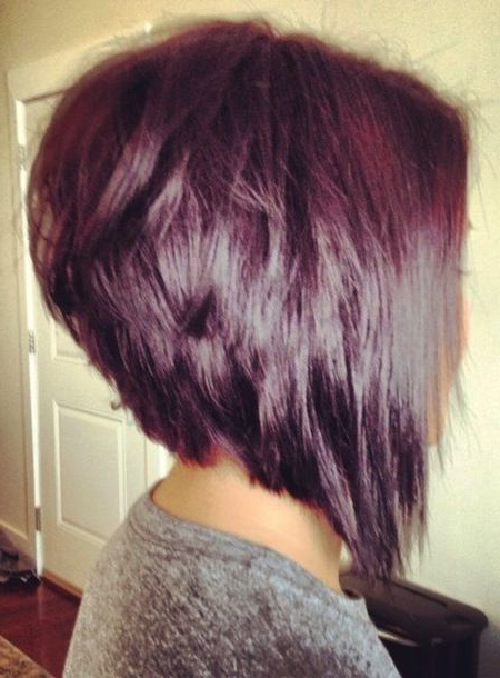 Enchanting Inverted Bob Haircuts For Mid Length Hair | Hair Pertaining To Extreme Angled Bob Haircuts With Pink Peek A Boos (View 20 of 25)