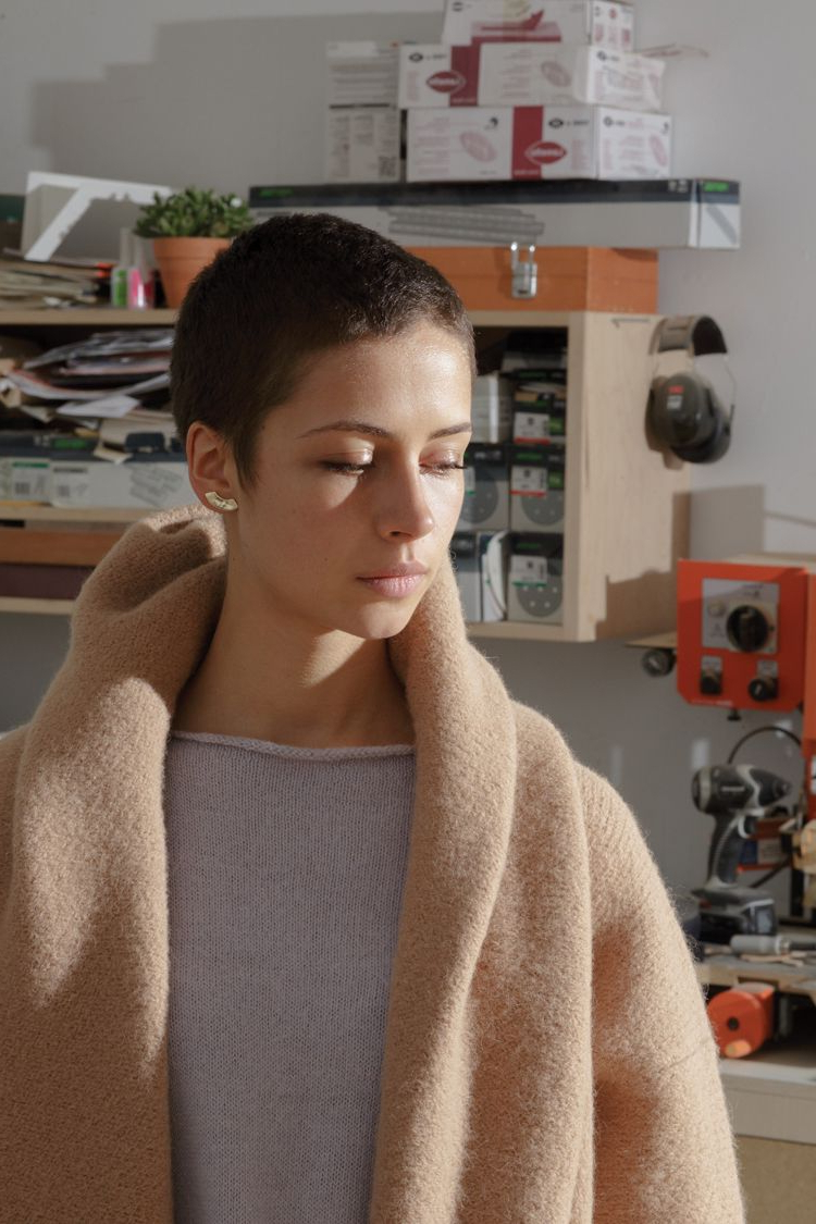 Erin Considine Gold Arc Studs / Aw14 Lauren Manoogian Lookbook   My Within Short Haircuts For Studs (View 5 of 25)