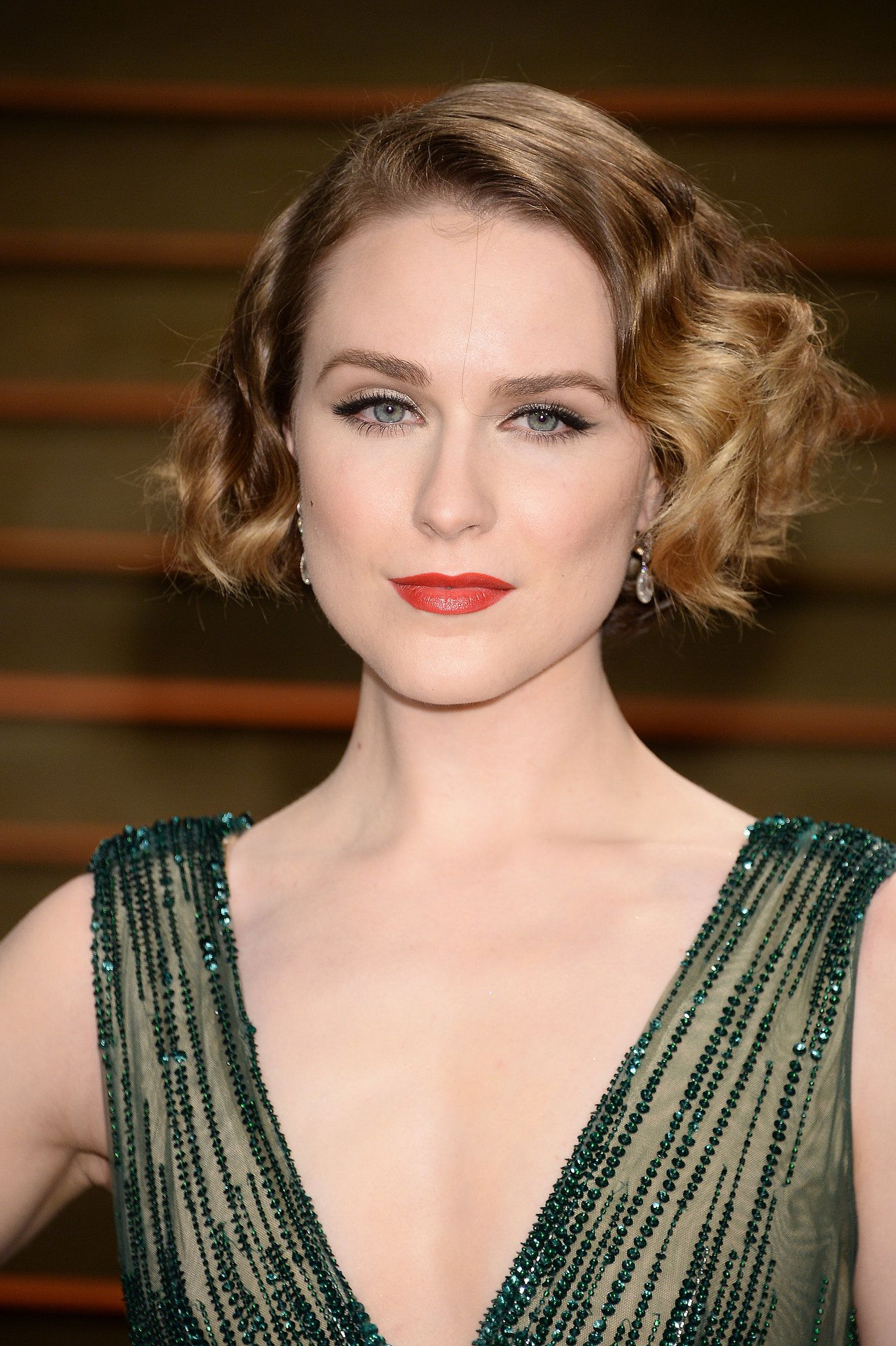 Evan Rachel Wood At Vanity Fair Party | Fashionaholic | Pinterest Pertaining To Vintage Hairstyle For Short Hair (View 13 of 25)