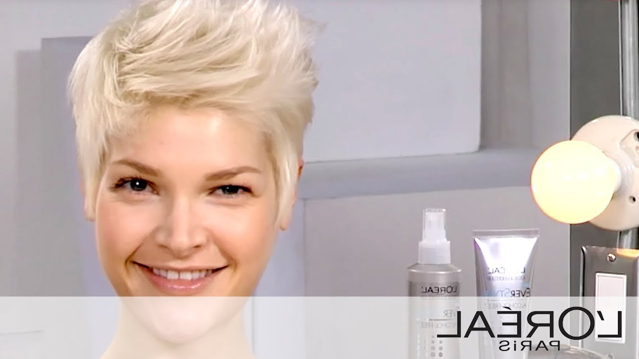 Everstyle Get The Look: Create An Edgy Short Hair Style – Youtube Inside Edgy Short Haircuts (View 18 of 25)