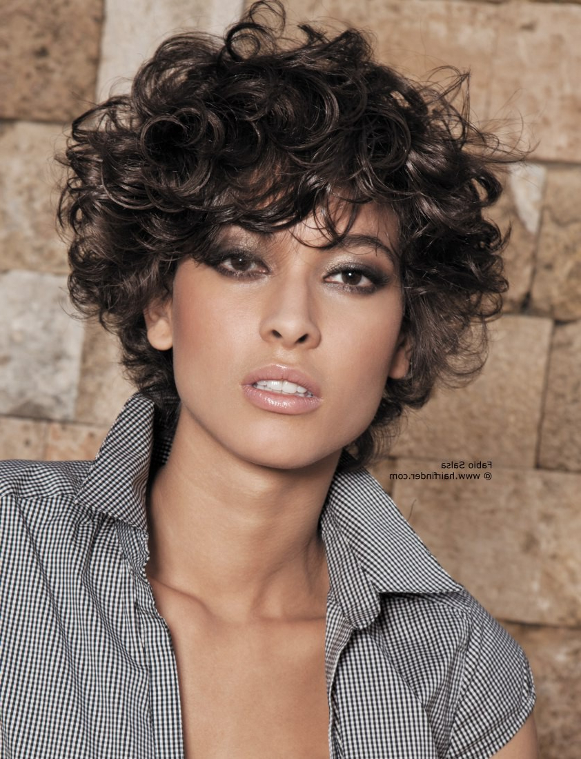 Exclusive   Trendy   Short Hairstyles For Round Faces   Short Curly Throughout Short Hairstyles For Round Faces Curly Hair (View 13 of 25)