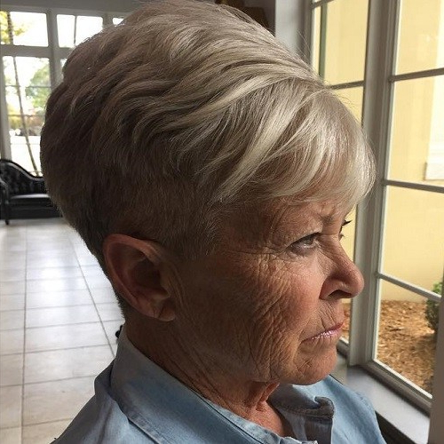 Fabulously Different Hairstyles For Women Over 60 | Inspired Living in Ash Blonde Undercut Pixie Haircuts