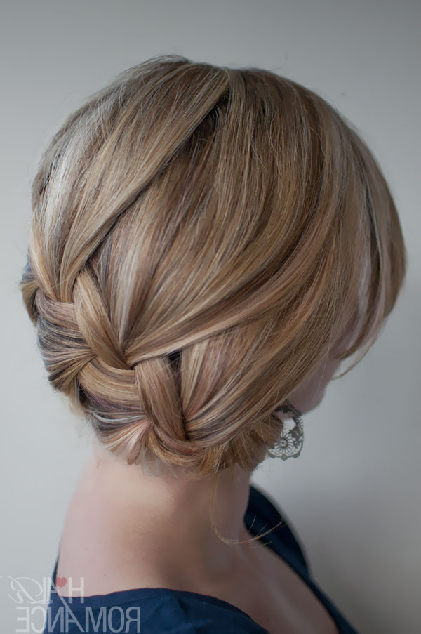 Fabulously Fashionable French Braid: Classic Loose French Braid in Short Messy Hairstyles With Twists