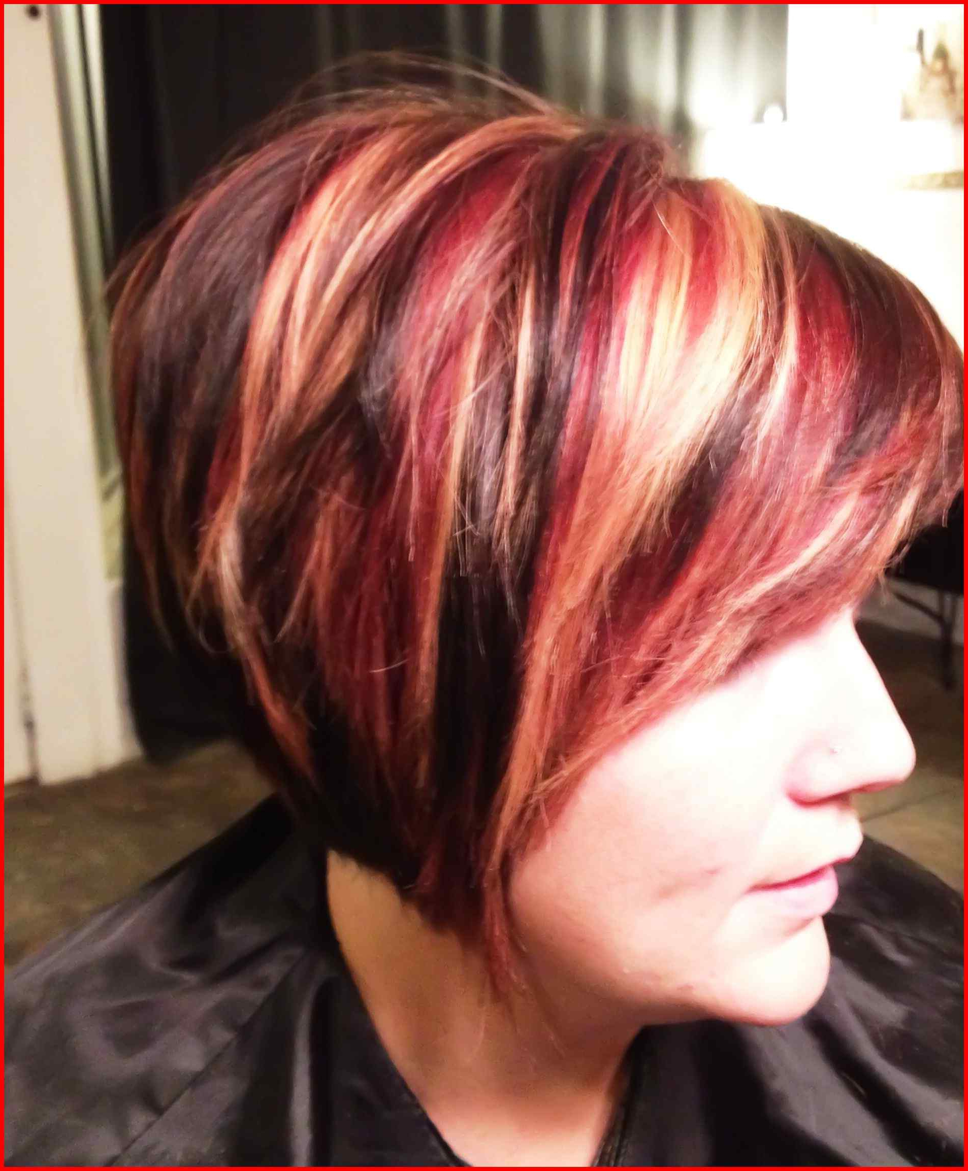 Fall Hair Color For Blondes Balayage Short Inspirational Fall Hair With Short Haircuts With Red And Blonde Highlights (View 5 of 25)