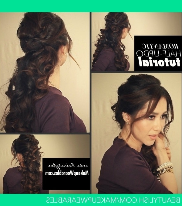 Fancy Curly Ponytail Tutorial Video   Cute Romantic Hairstyles Regarding Romantic Ponytail Hairstyles (View 15 of 25)