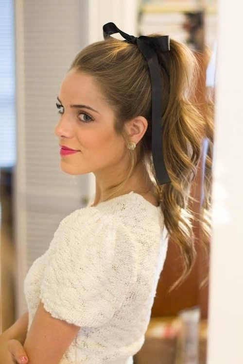 Fantastic! 50 Most Romantic Hairstyles For The Happiset Moments In Pertaining To Romantic Ponytail Hairstyles (View 14 of 25)