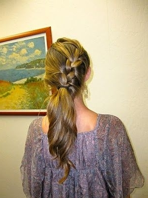 Fashion Friday #1 | Pinterest | French Braid Ponytail, Braided Throughout Diagonally Braided Ponytail Hairstyles (View 21 of 25)