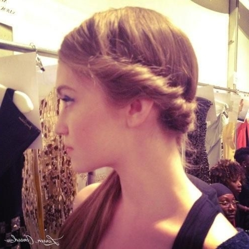 Fashion Week: Backstage Beauty | Primp | Pinterest | Side Ponytails In Perfectly Imperfect Side Ponytail Hairstyles (View 13 of 25)