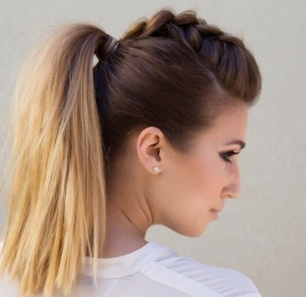 Faux Hawk Ponytail | Hair Styles | Pinterest | Faux Hawk, Ponytail Inside Faux Hawk Ponytail Hairstyles (View 3 of 25)