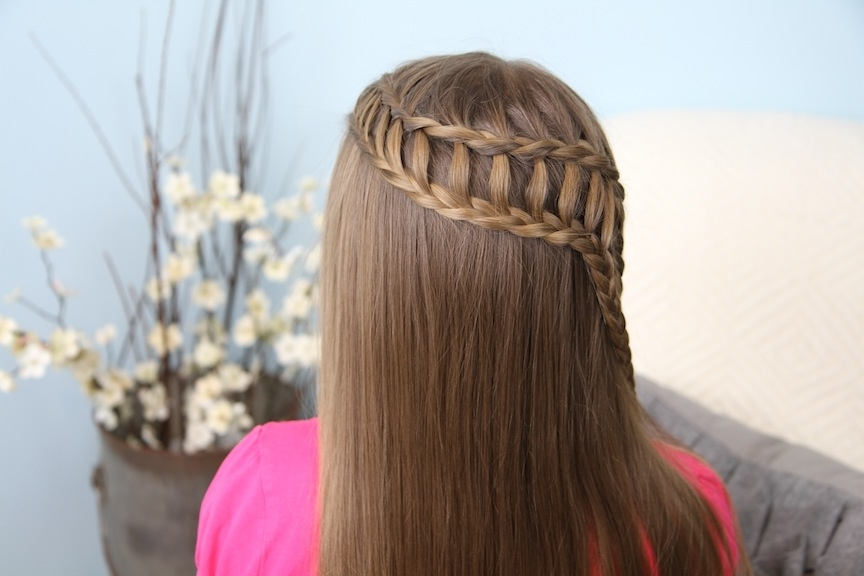 Feather Waterfall & Ladder Braid Combo | 2 In 1 Hairstyles | Cute With Regard To Pony And Dutch Braid Combo Hairstyles (View 12 of 25)