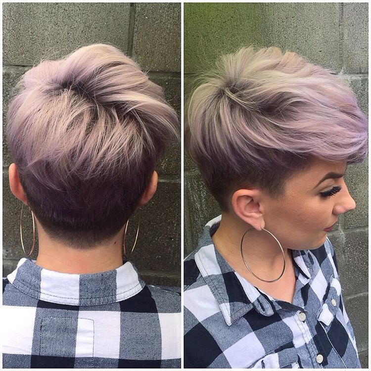 Feels Great To Have Color Back In My Life And A Fresh Cut. Thanks pertaining to Edgy Purple Tinted Pixie Haircuts