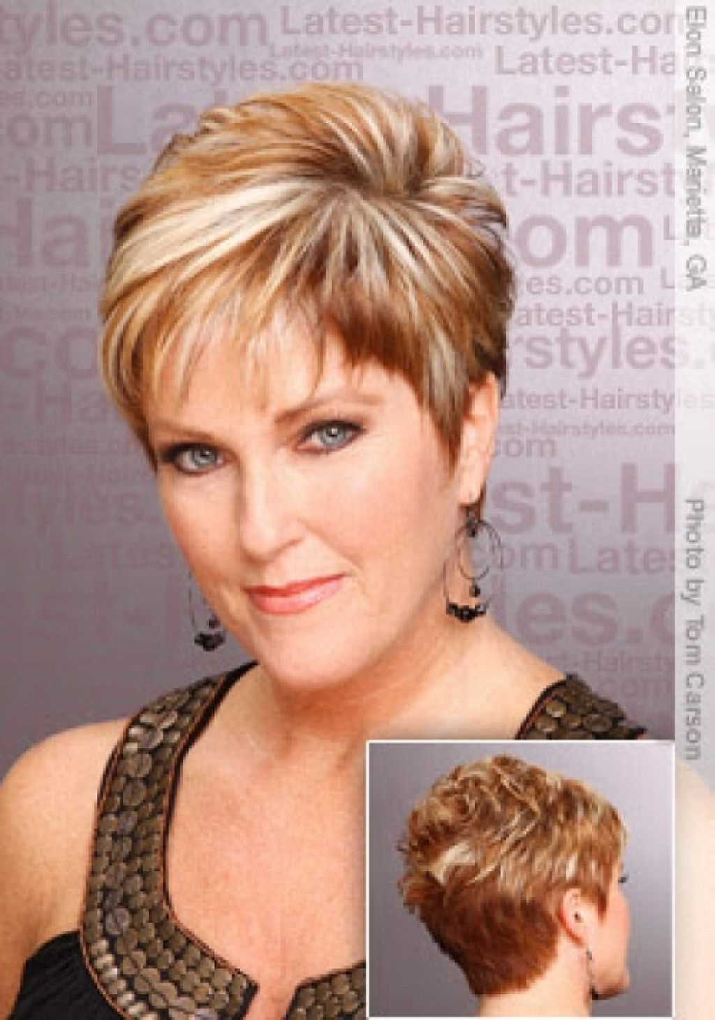 Find Out Full Gallery Of Beautiful Haircuts For Fat Women Over 40 Regarding Short Haircuts For Women Over 40 With Curly Hair (View 13 of 25)