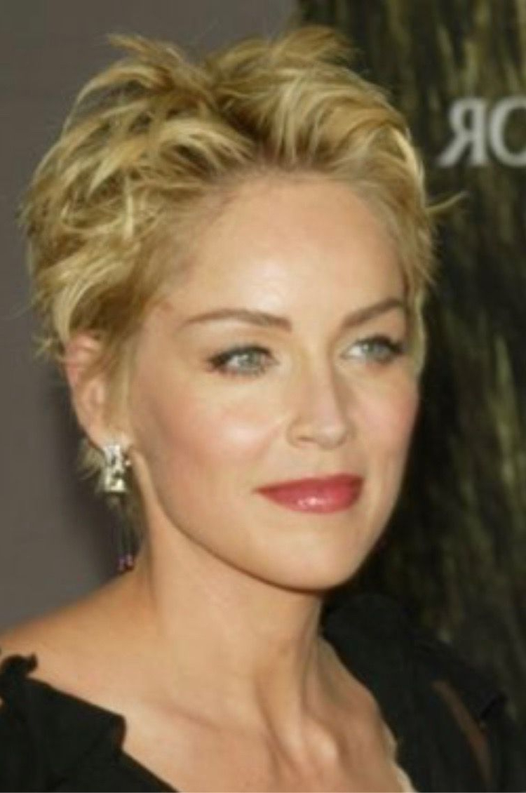 Find Out Full Gallery Of Inspirational Sharon Stone Photos Short Hair Pertaining To Sharon Stone Short Haircuts (View 15 of 25)