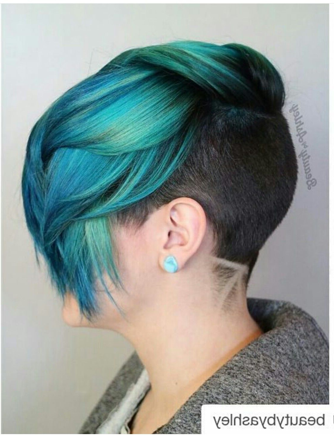 Find Out Full Gallery Of Unique Short Hairstyles Women Shaved Sides Inside Short Hairstyles One Side Shaved (View 7 of 25)