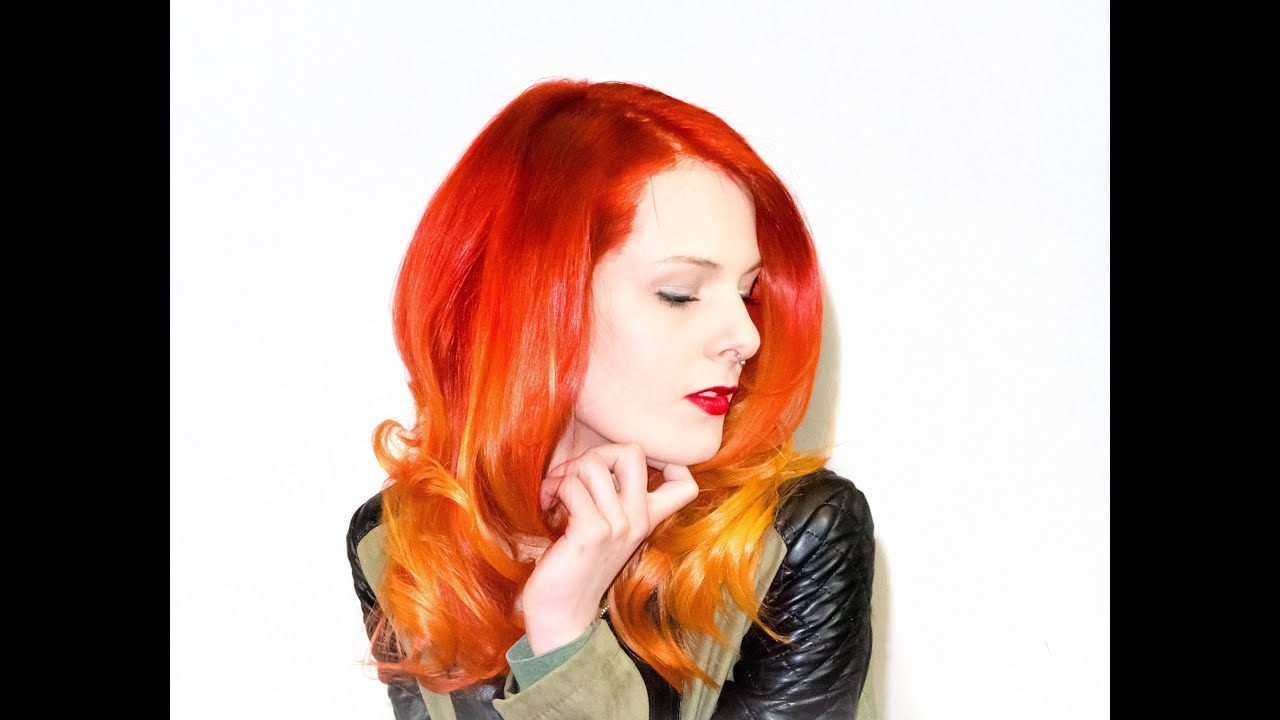 Fire Ombre – Color Melting Technique ??? Hair Trends – Youtube Regarding Fire Red Short Hairstyles (View 11 of 25)