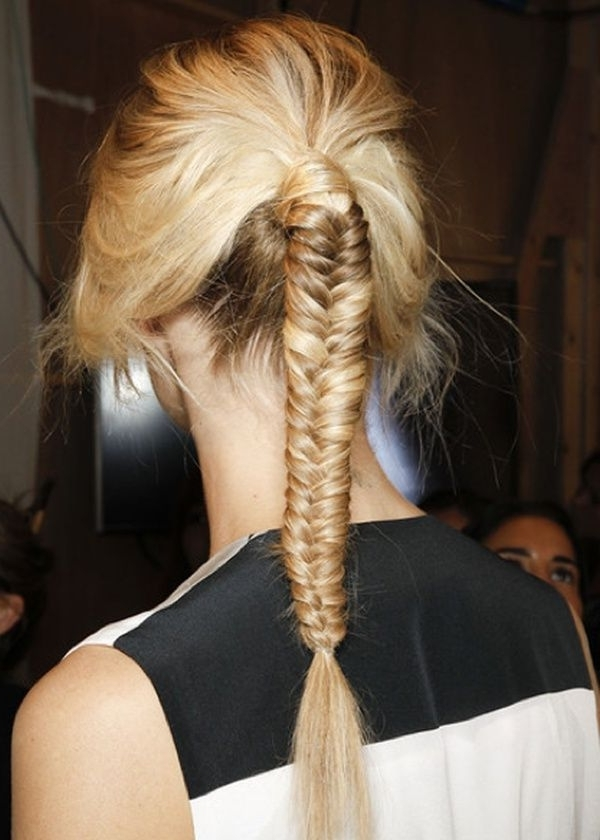 Fish Tail Fabulous | All About Hair | Pinterest | Braided Ponytail In Fabulous Fishtail Side Pony Hairstyles (View 24 of 25)