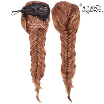 Fishtail Braid Extension Fishtail Ponytail Clip Braids – Buy Pertaining To Fishtail Ponytails With Hair Extensions (View 15 of 25)