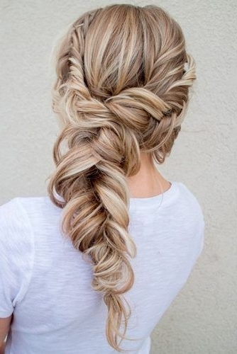 Fishtail | Side Braid | Ponytail | Blonde Highlight | Long Hairstyle For Fishtail Ponytails With Hair Extensions (View 15 of 25)