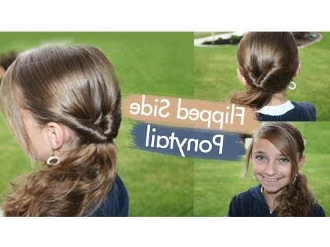 Flipped Side Ponytail | Cute Girls Hairstyles – Youtube Intended For Criss Cross Side Ponytails (View 25 of 25)