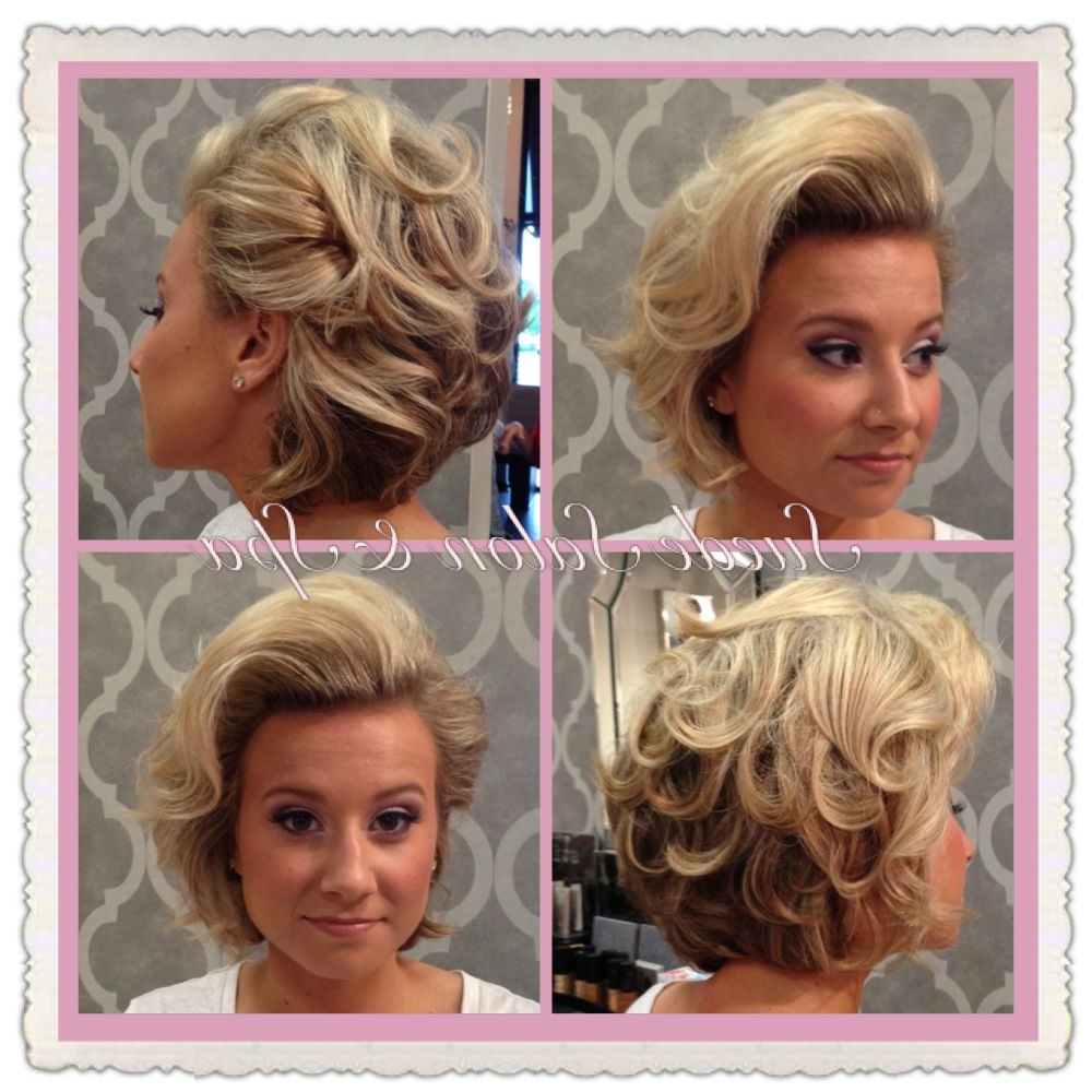 Formal Style For Short To Medium Length Hair. Perfect For A Wedging in Short Hairstyles For Formal Event