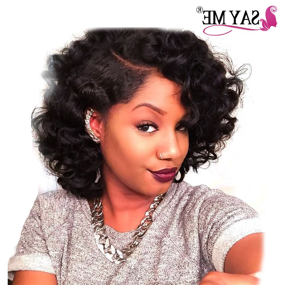 Free Shipping] Buy Best Unprocessed Peruvian Bouncy Curly Hair 100G With Regard To Bouncy Curly Black Bob Hairstyles (View 11 of 25)