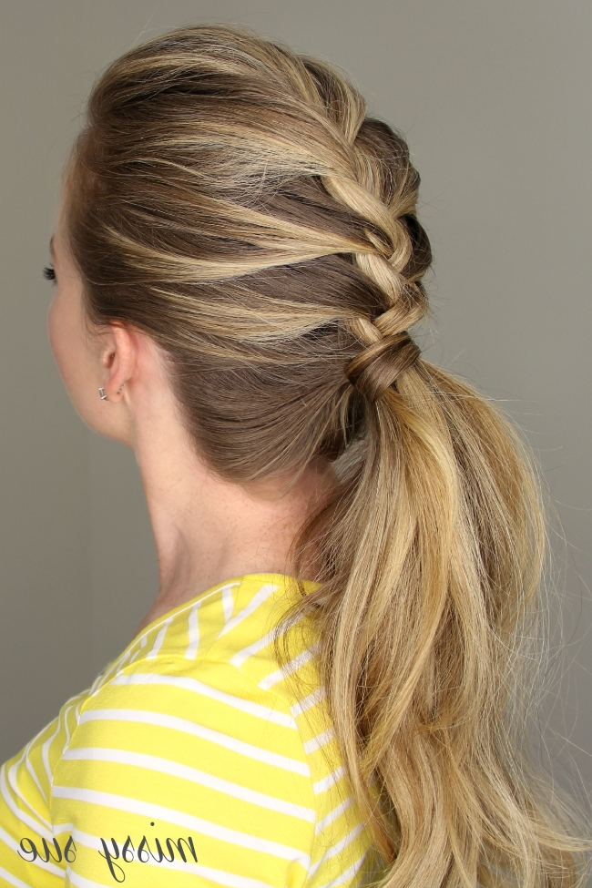 French Braid Ponytail Intended For Double French Braid Crown Ponytail Hairstyles (View 13 of 25)