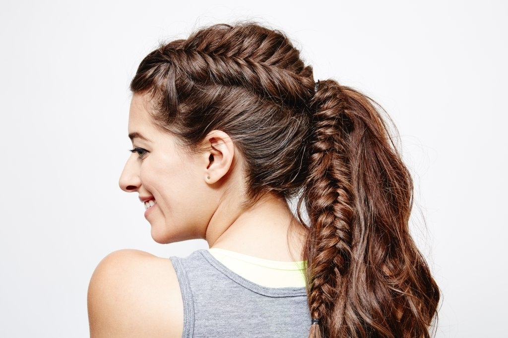 French Fishtail Ponytail: Final Look | Fishtail Braid Ponytail With Regard To Fishtail Braid Ponytails (View 13 of 25)