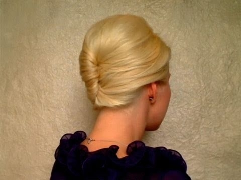 French Twist Hairstyle Tutorial For Short, Medium Long Hair Prom Within Twisted Retro Ponytail Updo Hairstyles (View 14 of 25)