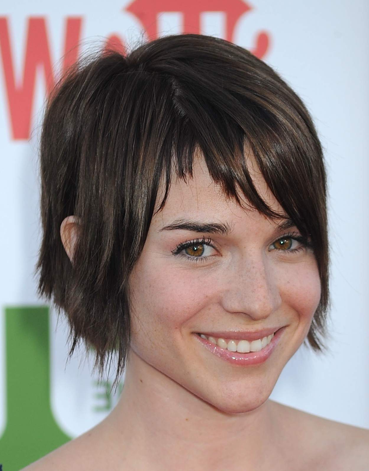 From Pixies To Shags: 18 Great Cuts For Short, Brown Hair intended for Dramatic Short Hairstyles