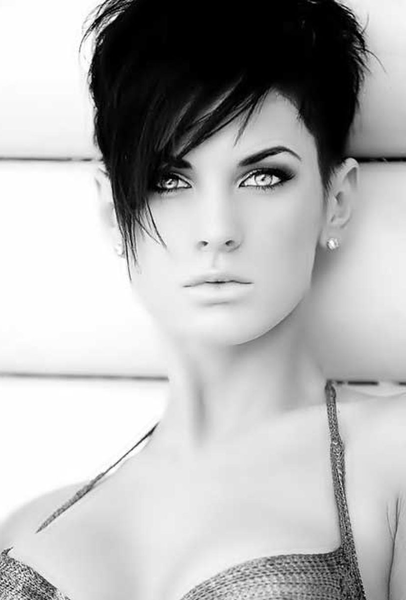 Funky Short Pixie Haircut With Long Bangs Ideas 86 – Fashion Best Throughout Short Haircuts With Longer Bangs (View 19 of 25)