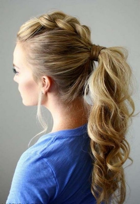 Geflochtener Kleber | Cute Hairstyles | Pinterest | Hair Style Intended For Regal Braided Up Do Ponytail Hairstyles (Gallery 4 of 25)