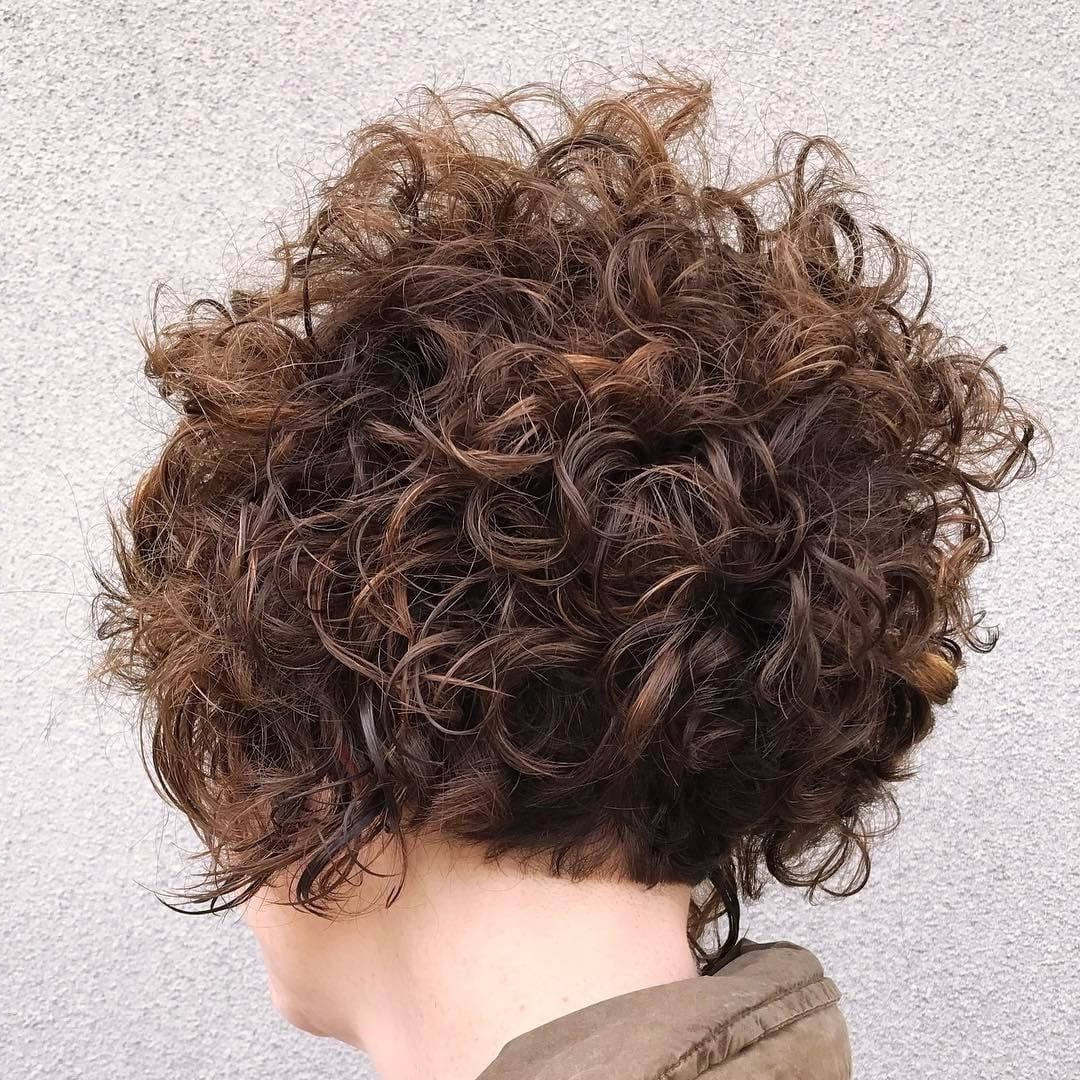 Get This Hairstyle:http://hairstyleology/stacked-Curly-Bob regarding Stacked Curly Bob Hairstyles