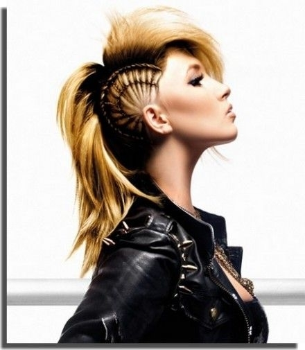 Girl Mohawk Hairstyles Trends And Ideas Ponytail Mohawk – Hairstyles In Sculptural Punky Ponytail Hairstyles (View 23 of 25)