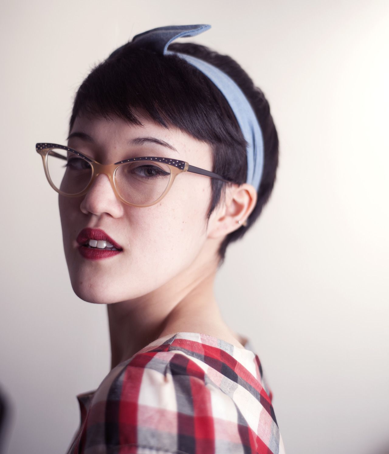 Girls With Short Hair Rock Vintage Glasses. | Short Hair | Pinterest Inside Short Haircuts For Girls With Glasses (Gallery 8 of 25)