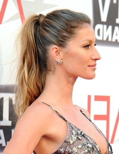 Gisele Bundchen Ponytail Hairstyle For Long Hair – Popular Haircuts Inside Long Classic Ponytail Hairstyles (View 21 of 25)