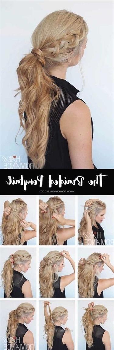 Glam Ponytail Tutorials – Braided Ponytail Hairstyle Tutorial With Regard To Braided Glam Ponytail Hairstyles (View 3 of 25)