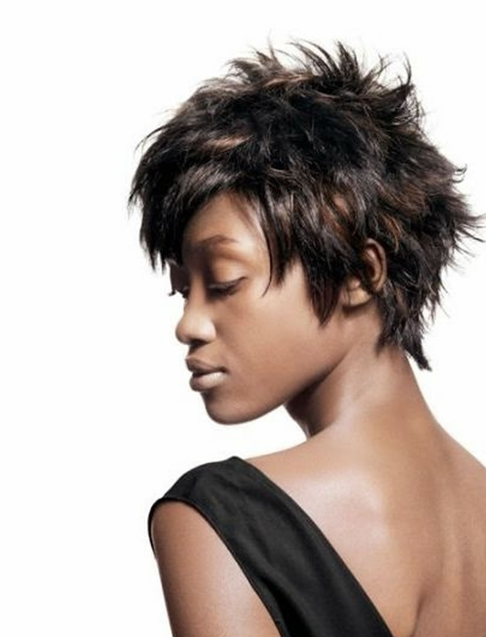 Glamorous Messy Short Haircut For Black Women – Hairstyles Inside Messy Short Haircuts For Women (Gallery 8 of 25)