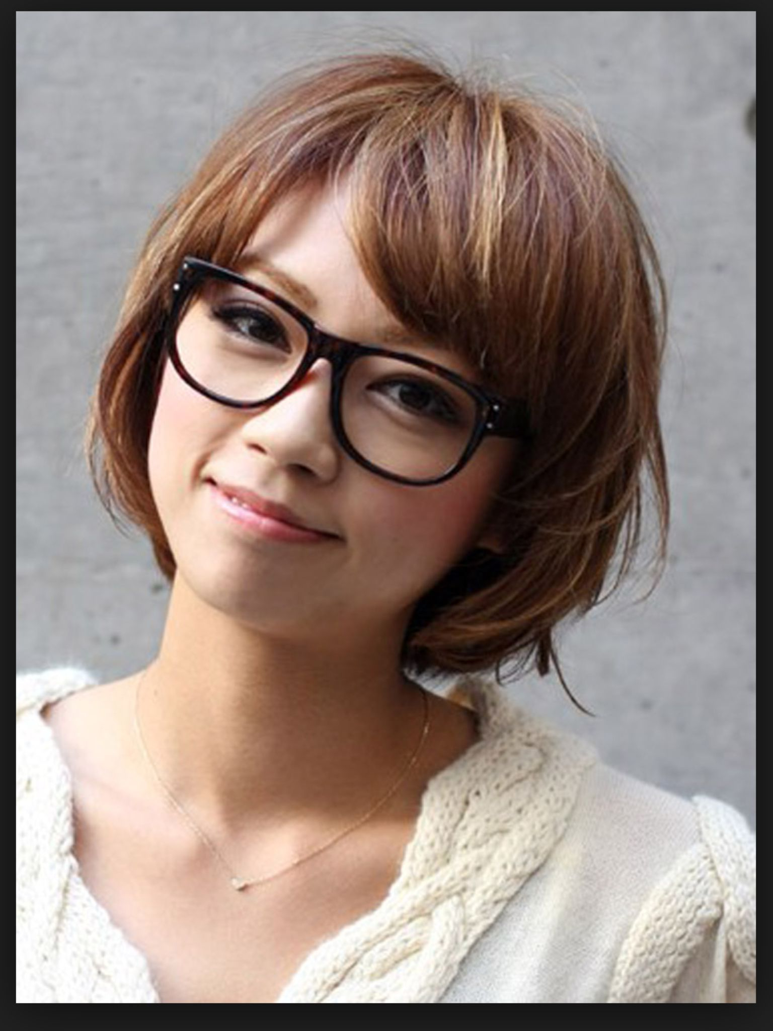 Glasses With A Trendy Bob | Haircuts In 2018 | Pinterest | Short Pertaining To Short Haircuts For Glasses Wearer (Gallery 10 of 25)