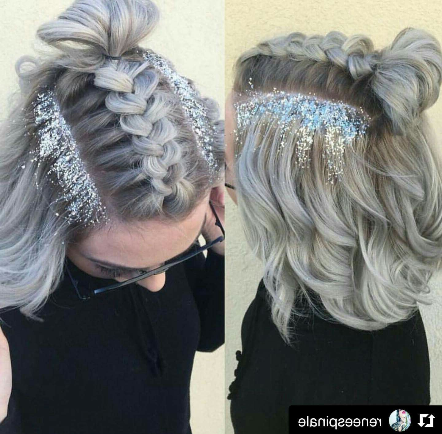 Glitter Roots And Braid | Hair Nails Makeup Skin In 2018 | Pinterest Pertaining To Beach Hairstyles For Short Hair (Gallery 9 of 25)